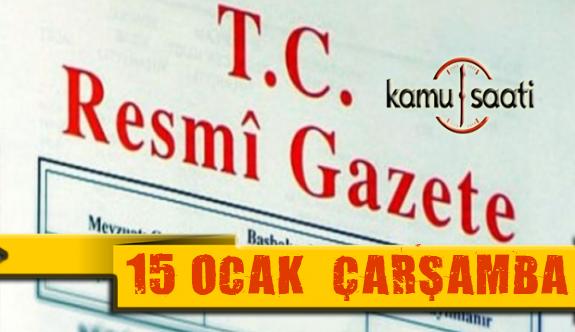 15 Ocak 2020 Çarşamba TC Resmi Gazete Kararları