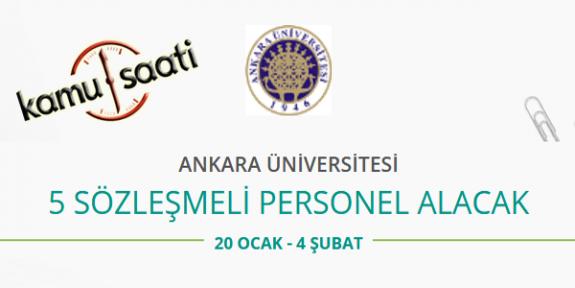 Ankara Üniversitesi 5 Sözleşmeli Personel Alımı