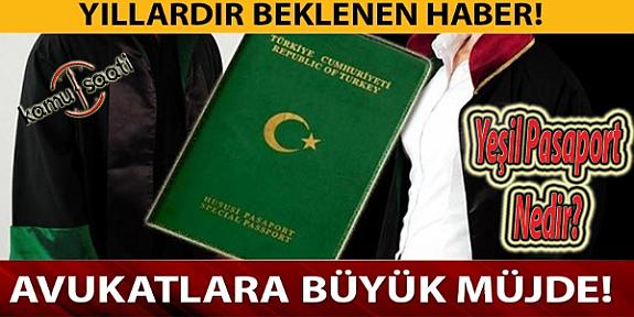 Avukatlara Yeşil Pasaport Resmi Gazete'de Yayımlandı İşte Başvuru Şartları