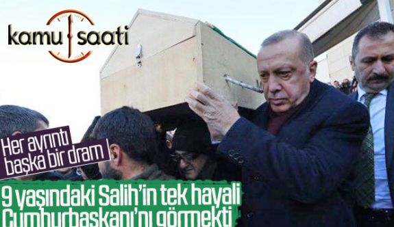 Elazığ'lı Salih'in Tek Hayali Cumhurbaşkanı Erdoğan'ı Görmekti Tabutunu Erdoğan Taşıdı