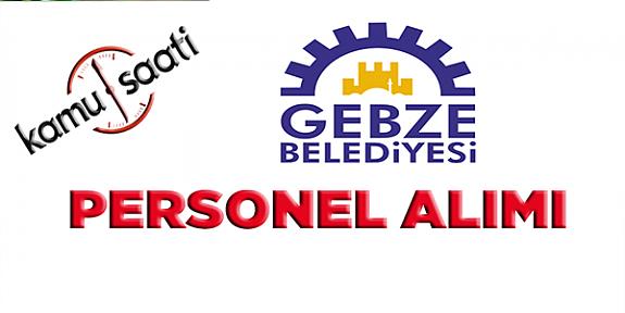 Gebze Belediyesi Personel Alımı, İş Başvurusu