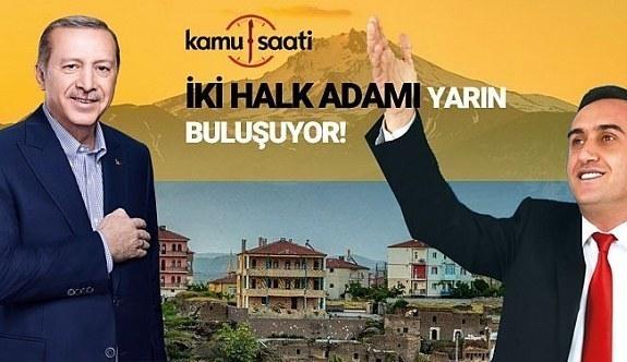 İncesu Belediye Başkanı Mustafa İlmek'e Ak Parti Rozetini Başkan Recep Tayyip Erdoğan Takacak