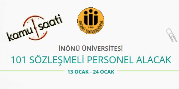 İnönü Üniversitesi 101 Sözleşmeli Personel Alımı Yapacak