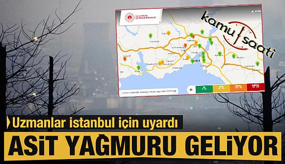 İstanbul'da Bugün Asit Yağmuruna  Teslim!