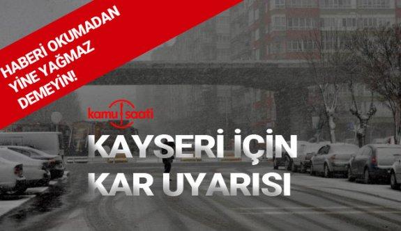 Kayseri'de haftasonu hava durumu nasıl olacak,kar yağacak mı 2020
