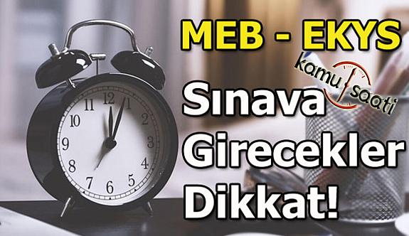 MEB Yönetici Seçme Sınavına Katılacak Adaylar Dikkat