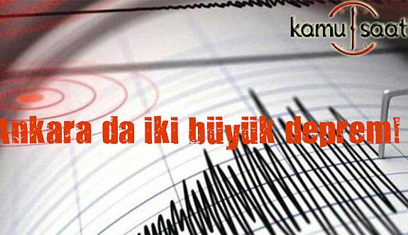 Türkiyede Depremler Bitmek Bilmiyor Ankara 4,4 büyüklüğünde Buğün Sallandı !