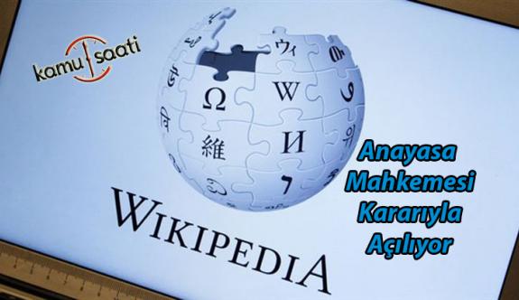 Wikipedia Anayasa Mahkemesi Kararıyla Açılıyor