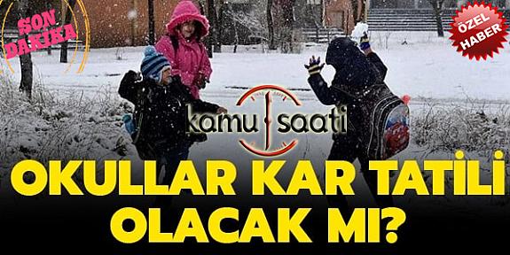 Yarın Okullar Tatil mi? 08 Ocak 2020 Kar Tatili olan İller