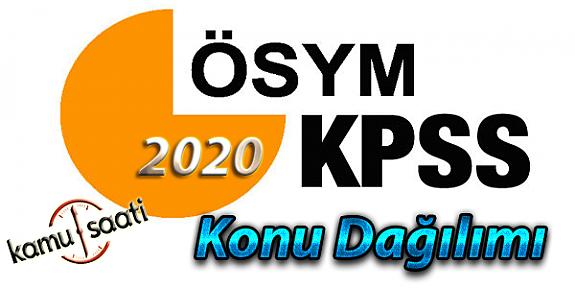 2020 KPSS Tarih Konu Dağılımı