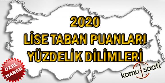 2020 Lise Taban Puanları ve Yüzdelik Dilimleri LGS - MEB