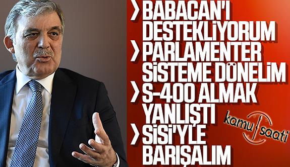 Abdullah Gül, Gündemi Değerlendirdi !!
