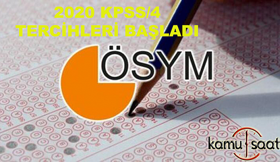 Adaylar, KPSS 2020/4 Tercihlerini Tamamlamaya Başladı