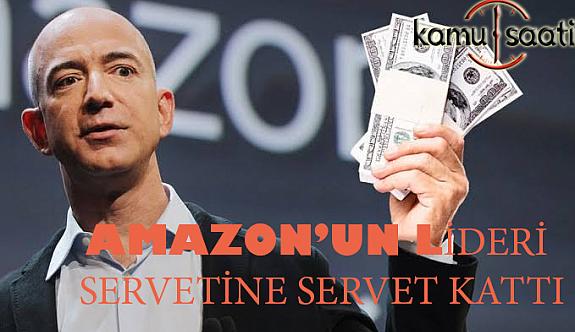 Amazon'un LideriBezos, bir günde servetini sekiz milyar dolar artırdı
