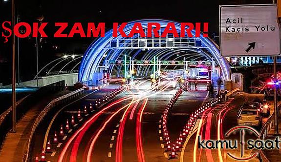 Avrasya Tünelinden geçmek Yüzde 56 Zam'a Uğradı!