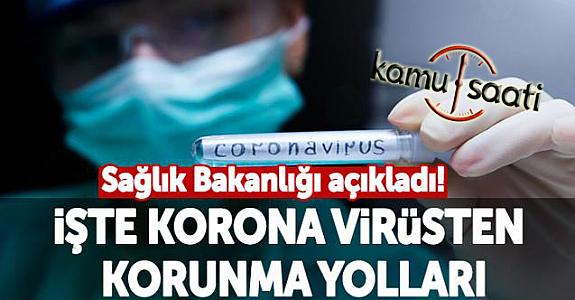 Corona Virüsüne  Karşı Alınması Gereken Tedbirler