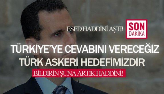 Esad rejimi çıldırdı! Türkiye'ye cevap verilecekmiş