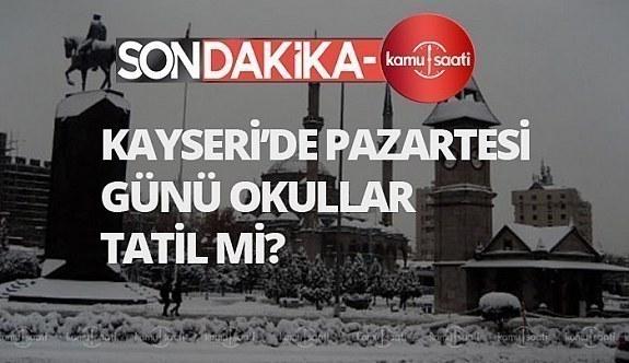 kayseri valiliği ,Kayseri'de yarın okullar tatil mi 10 şubat pazartesi,