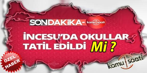 Kayseri İncesu'da yarın 12 ŞUBAT ÇARŞAMBA okullar tatil EDİLDİ