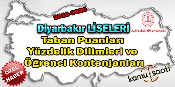 LGS Diyarbakır Liseleri Taban Puanları Yüzdelik Dilimleri Öğrenci Kontenjanları 2018 - 2019 - 2020