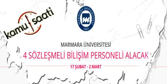 Marmara Üniversitesi 4 Sözleşmeli Bilişim Personeli Alımı