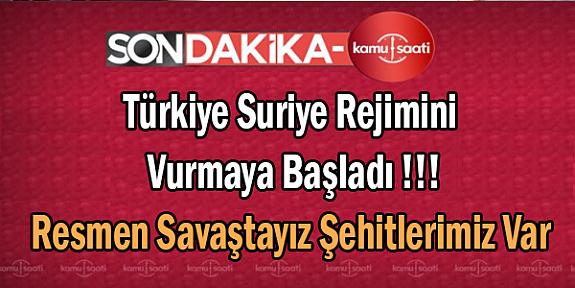 Türk Silahlı Kuvvetleri Suriye Rejimini Vurmaya Başladı Suriye Yakılıp Yıkılıyor Şehitlerimiz Var !!