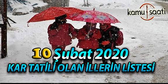Yarın Okullar Tatil mi? 10 Şubat 2020 Pazartesi Kar Tatili olan İller