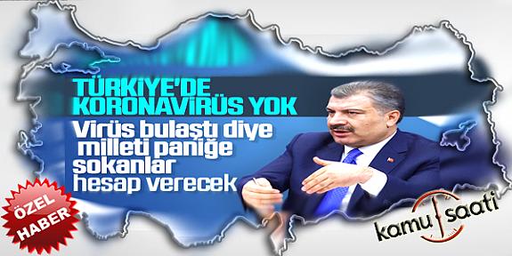 Bakan Koca:  Türkiye'de Şu An Tespit Edilmiş Bir Koronavirüs Vakamız Bulunmamaktadır !