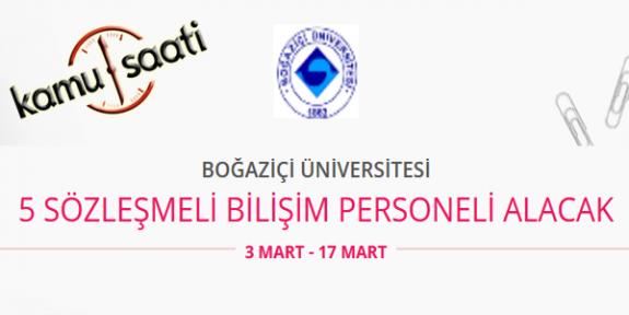 Boğaziçi Üniversitesi 5 Sürekli İşçi Personel Alımı