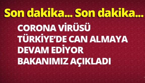 Corona virüsünden dolayı Türkiye'de kaç ölüm oldu,vaka sayısı kaça yükseldi 19 mart 2020