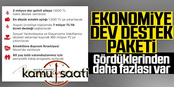 Cumhurbaşkanı Erdoğan'dan Dar Gelir Grubu İçin Yeni Paket Açıkladı