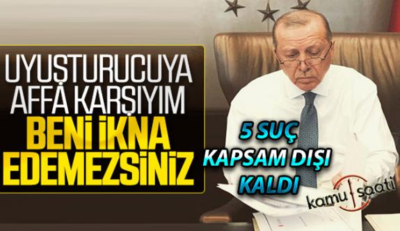 Cumhurbaşkanı Erdoğan İnfaz Düzenlemesinde 5 suçu Kapsam Dışı Bıraktı! İşte Detaylar
