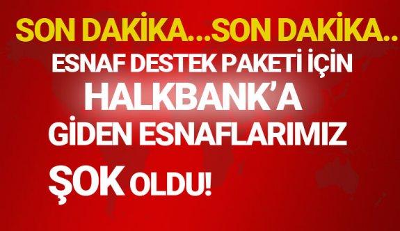 Halkbank'dan 25 bin TL esnaf destek kredi çekme şartları nelerdir 2020