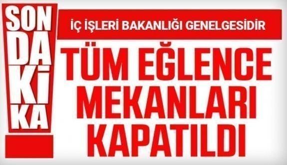 İç işleri bakanlığı öyle bir karar aldı ki..Tüm Türkiye Genelinde tüm Eğlence Merkezleri Kapatıldı