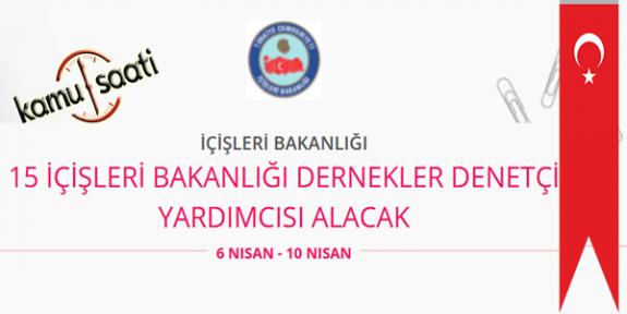 İçişleri Bakanlığı 15 Dernek Denetçi Yardımcısı Personel Alımı