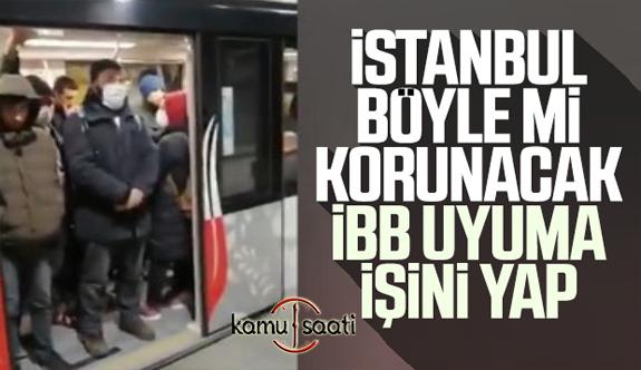 İstanbul'daki Toplu Taşıma Araçlarının Seyrekleştirilmesi Sonrası Araçlarda Yoğunluk Oluşuyor
