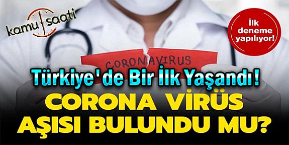 Korona Virüs Aşısı İçin Türkiye'de İlk Adım Atıldı! Klinik Deney Başlıyor