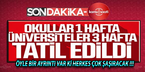 Korona Virüsten Dolayı Türkiye Genelinde Okullar 16 Marttan İtibaren Tatil Edildi