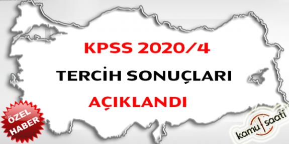 KPSS 2020/4 tercih sonuçları açıklandı