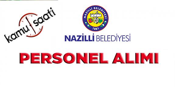 Nazilli Belediyesi Personel Alımı
