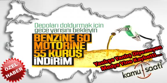 Petrol Fiyatlarının Düşmesi Sonrası Türkiye'de Akaryakıta İndirim