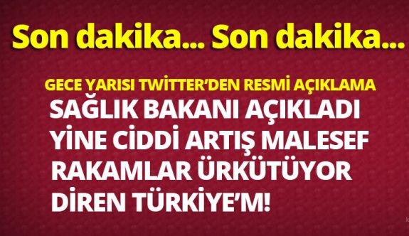 Sağlık bakanı Dr.Fahrettin Koca resmi twitter hesabı son dakika korona virüsü açıklaması 21 mart 2020
