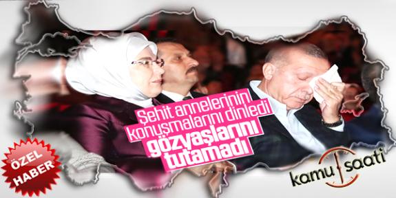 Şehit Annelerinin Konuşması Başkan Erdoğan'ı Duygulandırdı