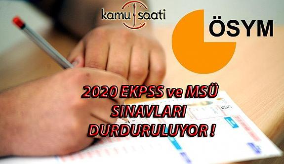 Şok Tedbir Kararı ! 2020 EKPSS ve MSÜ Sınavları Öteleniyor