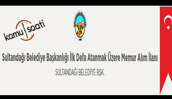 Sultandağı Belediyesi Memur Personel Alımı İş Başvurusu ve Başvuru Formu