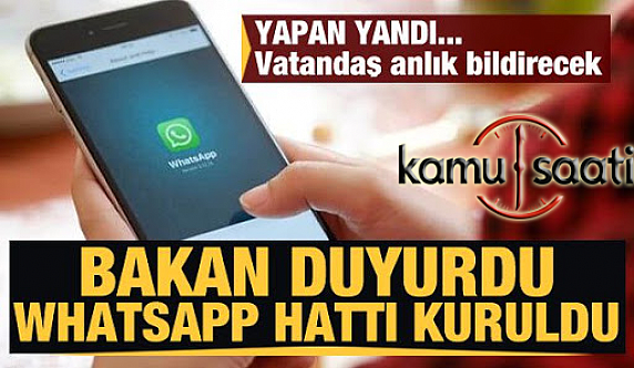 Tarım ve Orman Bakanı Pakdemirli: Alo 174'ün yanında WhatsApp servisi açtı