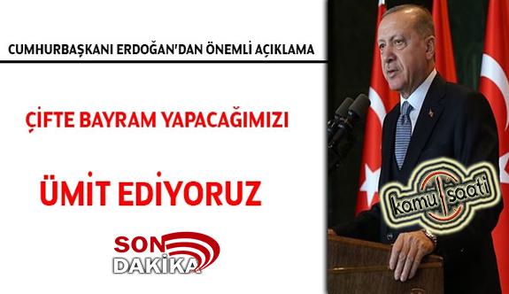 Başkan Erdoğan'dan 'Salgın ne zaman bitecek?' sorusuna cevap