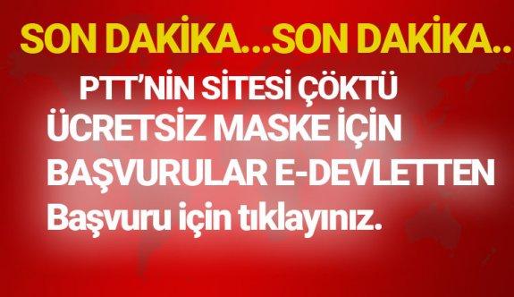 E-devlet çöktü mü 2020 6 nisan, E-devlet ücretsiz maske başvurusu yap online internet üzerinden,Turkiye.gov.tr neden açılmıyor