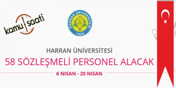 Harran Üniversitesi 58 Sözleşmeli Personel Alımı