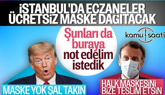İstanbul'da eczanelerden bedava maske dağıtılacak! Nereden Nereye Türkiye